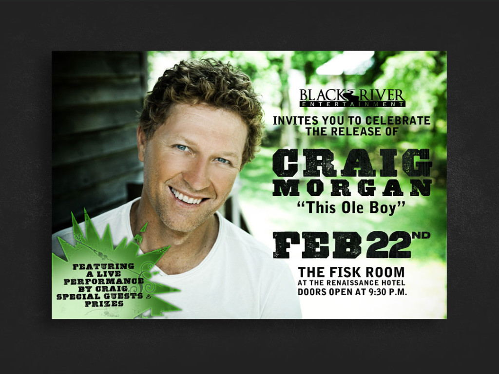 Craig Morgan CRS Event Flyer