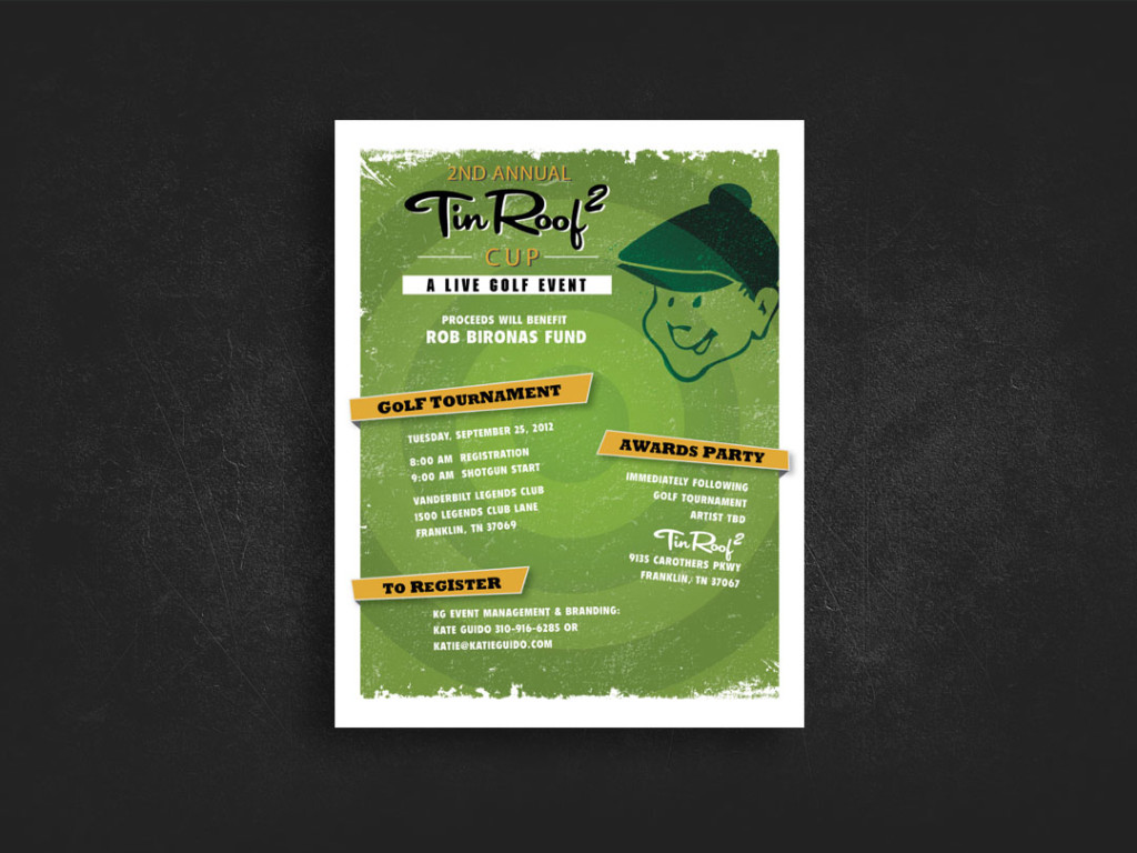 Tin Roof Golf Poster